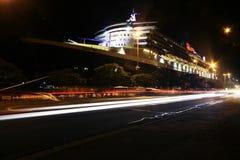 Queen Mary 2 en Sydney, Australia Imagen de archivo libre de regalías