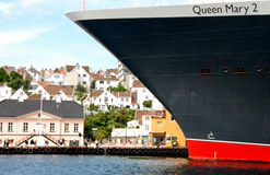 Queen Mary 2 in Stavanger 2 Royalty Free Stock Photography