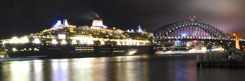 Queen Mary 2 in Sydney, Australia royalty free stock photography