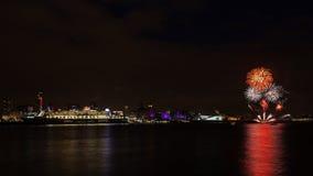 Queen Mary 2 angelegt auf der Liverpool-Ufergegend Lizenzfreie Stockbilder