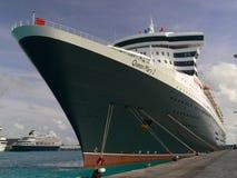 Queen Mary 2 in Barbados Immagini Stock Libere da Diritti