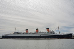 Queen Mary on Cloudy Day Stock Photography