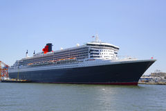 Queen Mary 2 cruise ship docked at Brooklyn Cruise Terminal. NEW YORK - JULY 6: Queen Mary 2 cruise ship docked at Brooklyn Cruise Terminal on July 6, 2014 Royalty Free Stock Photo