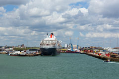 Queen Mary 2 cruise ship at Southampton Docks England UK Royalty Free Stock Photography