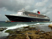 Queen Mary 2 in Curacao Royalty Free Stock Photo