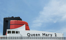 Queen Mary 2 details van het cruiseschip Stock Afbeeldingen