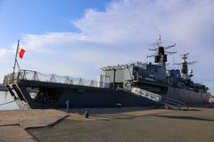 The Queen Maria frigate moored in port Stock Images