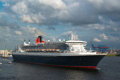 Queen Mary 2 - the great luxury cruise ship Royalty Free Stock Image