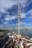 Queen Mary i Long Beach, Kalifornien, USA fotografering för bildbyråer