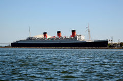 Queen Mary Liner, Long Beach, Los Angeles, USA Stock Photo