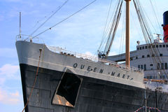 Queen Mary in Long Beach, CA Royalty-vrije Stock Afbeelding