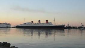 Queen Mary Long Beach California stock footage