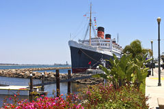 The Queen Mary Long Beach California. Royalty Free Stock Photos