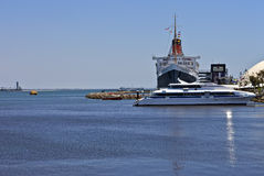 The Queen Mary Long Beach California. Royalty Free Stock Photography