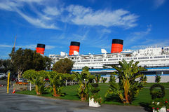 Queen Mary in Long Beach, California, USA Stock Images