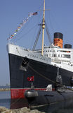 Queen Mary - Long Beach - Californie - Etats-Unis Image libre de droits