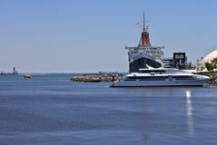 Queen Mary Long Beach Kalifornia Fotografia Royalty Free