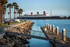 Queen Mary Long Beach stock photos