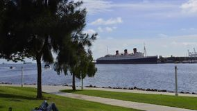 Queen Mary in Long Beach stock video