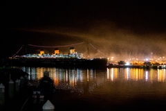Queen Mary at night Royalty Free Stock Photos