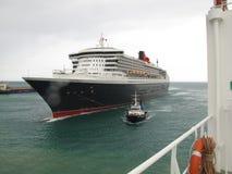 Queen Mary 2, ocean, niebo, naczynie, morski życie, żeglarz, morze Obrazy Stock