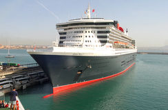 Queen mary 2 at port Stock Photos