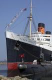 Queen Mary que flota el hotel - California - los E.E.U.U. Imagen de archivo libre de regalías