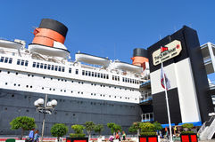 Queen Mary and Russian Scorpion in Long Beach, CA Royalty Free Stock Images