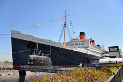 Queen Mary and Russian Scorpion in Long Beach, CA Stock Photo