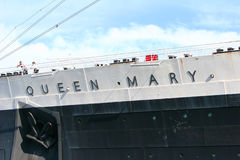 Queen Mary and Russian Scorpion in Long Beach, CA Stock Image