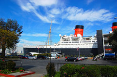 Queen Mary and Russian Scorpion in Long Beach, CA Royalty Free Stock Photos