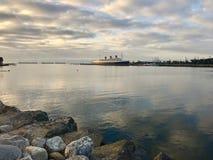 Queen Mary ship Long Beach California Royalty Free Stock Photography