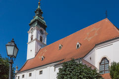 Queen Mary and St. Gotthard Church. In Mosonmagyarovar, Hungary Royalty Free Stock Photo