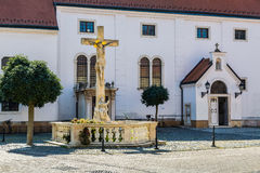 Queen Mary and St. Gotthard Church. In Mosonmagyarovar, Hungary Royalty Free Stock Images