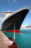 Queen Mary 2 in St Maarten Stock Photo