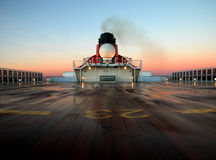 Queen Mary 2 with sunset Royalty Free Stock Photography