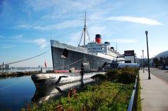 Queen Mary und russischer Skorpion in Long Beach, CA Stockfotografie
