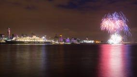 Queen Mary 2 viert Verjaardag 175 van Cunard Stock Foto's