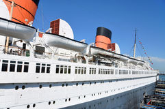 Queen Mary w Long Beach, Kalifornia, usa Obrazy Royalty Free