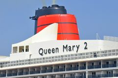 Queen Mary 2 worlds famous ocean liner stock image
