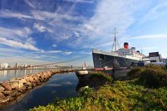 Queen Mary y escorpión ruso en Long Beach, CA Foto de archivo libre de regalías