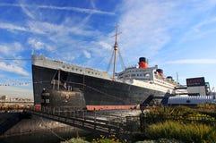 Queen Mary y escorpión ruso en Long Beach, CA Fotos de archivo libres de regalías