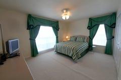 Queen Master Bedroom Stock Photo