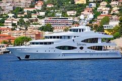 Queen Mavia yacht royalty free stock photos