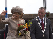 Queen maxima and flowers Royalty Free Stock Image