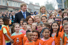 Queen Maxima and King Willem Alexander Stock Image