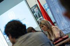 Queen Maxima of the Netherland Visit to Indonesia. Her Majesty Queen Máxima of the Netherlands has served as the UN Secretary-General's Special Advocate for Royalty Free Stock Photos