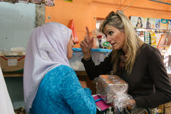 Queen Maxima of the Netherland Visit to Indonesia. Her Majesty Queen Máxima of the Netherlands has served as the UN Secretary-General's Special Advocate for Stock Image