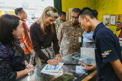 Queen Maxima of the Netherland Visit to Indonesia. Her Majesty Queen Máxima of the Netherlands has served as the UN Secretary-General's Special Advocate for Royalty Free Stock Photography