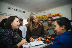 Queen Maxima of the Netherland Visit to Indonesia. Her Majesty Queen Máxima of the Netherlands has served as the UN Secretary-General's Special Advocate for Stock Photography